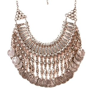 ATHENA Coin Statement Necklace
